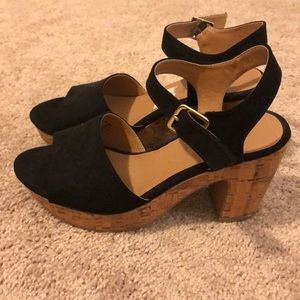 Black suede sandals by American eagle by Payless